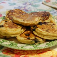 Blueberry pancakes (sugar-free)