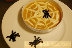 spider web carrot and lentil soup