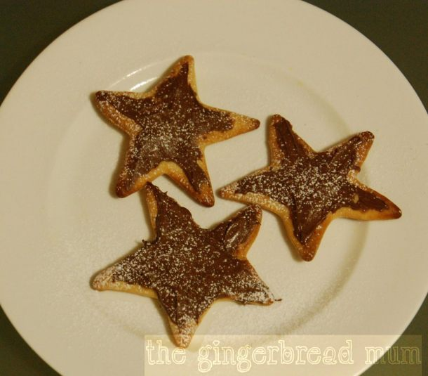 Nutella pizza stars