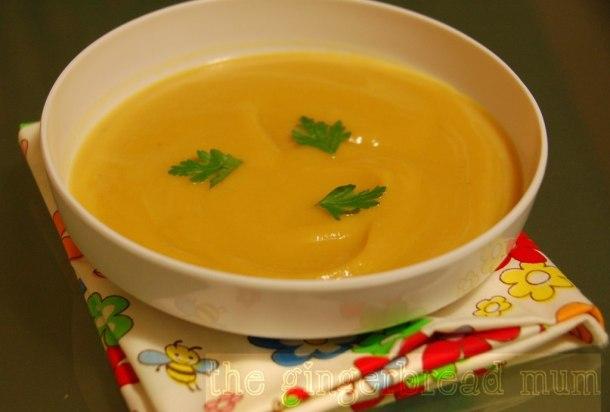 sweet potato and lentil soup