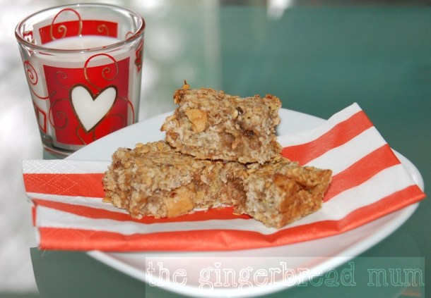 spiced apple sugar-free flapjacks