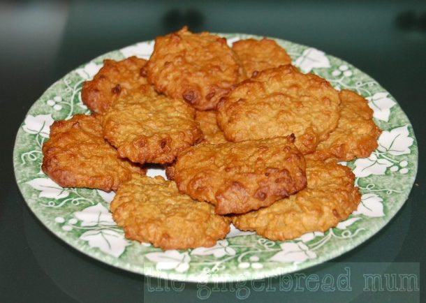 sugar-free Anzac biscuits