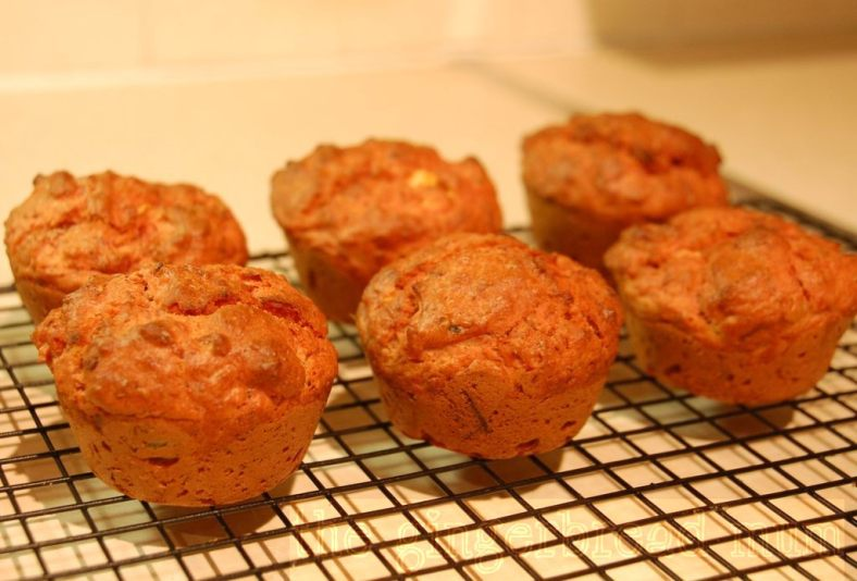 savoury beetroot, feta and thyme muffins