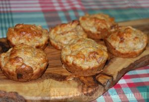 ham, cheese and veggie muffins