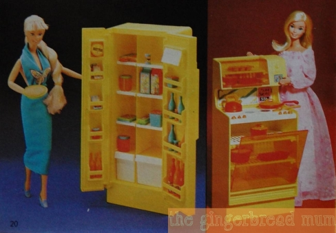 Vintage Mattel toy catalogue - Barbie's kitchen