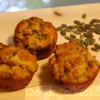 Carrot, spinach and cumin muffins