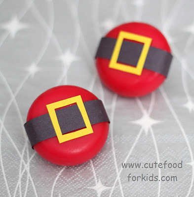 Cute Food for Kids' Santa Bellies