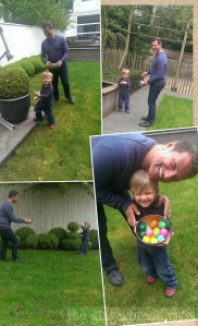 Hunting for Easter eggs in the garden