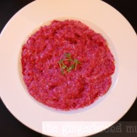 Beetroot and yogurt risotto