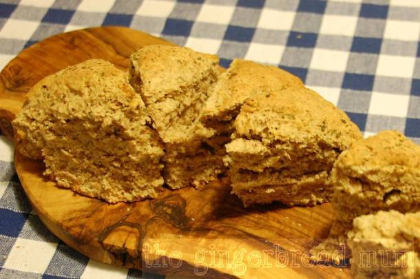 dairy-free damper bread