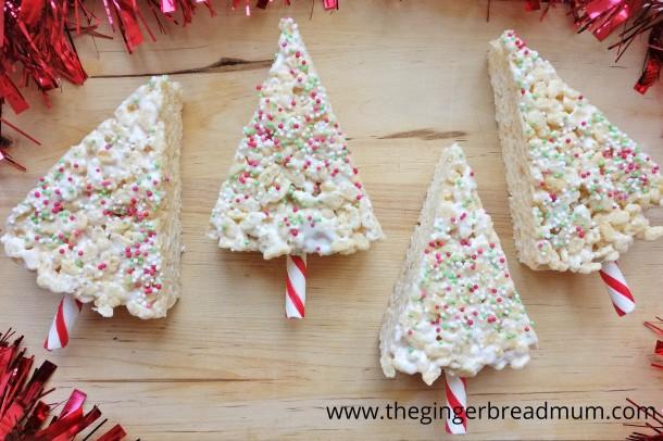 crispy-rice-marshmallow-christmas-trees